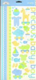 Bitty Baby Boy Icons Cardstock Stickers