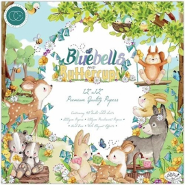 Bluebells and Buttercups 12x12 Paper Pad - Craft Consortium
