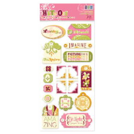 Frenzy Tags Layered Chipboard