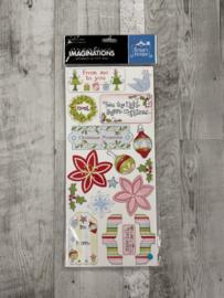 Renae Lindgren Christmas chipboard - Creative Imaginations
