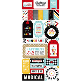 Magical Adventure 2 Chipboard Phrases Stickers - Echo Park