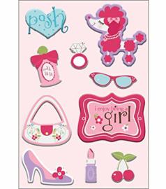 Posh Sticker Puffs Perfectly Posh collection