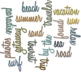 Vacation Script Thinlits by Tim Holtz - Sizzix