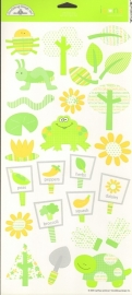 Lovely Lime Icons Cardstock Stickers