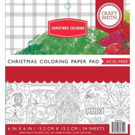 Christmas Coloring Paper Pad 6x6 - Craft Smith