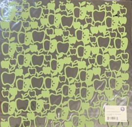 Apples Lucky Lace Cardstock - Ki Memories