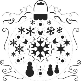 Mini Snowflake 6x6 - TCW
