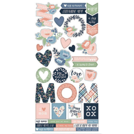 Cardstock Stickers - Mom's Day Collection