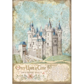 Sleeping Beauty Castle Rice Paper A4 - Stamperia