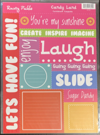 Cardstock Coupons Candy Land - Rusty Pickle