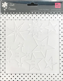 Just Corina Cleary Fun Shapes Acrylic Stars - Prima Marketing