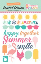 Summer Dreams Enamel Shapes Stickers Echo Park