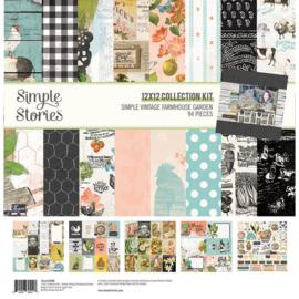Vintage Farmhouse Garden Collection Kit 12x12 - Simple Stories