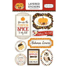 Hello Fall Layered Stickers - Carta Bella