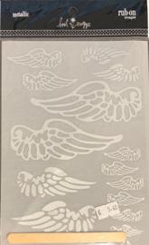 Rub-on Images Metallic Wings - Heidi Swapp