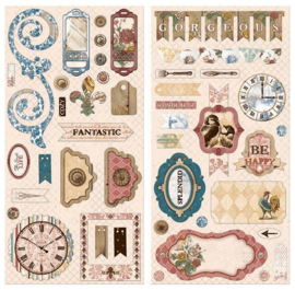 Chipboard Stickers - Provence Collection Bo Bunny