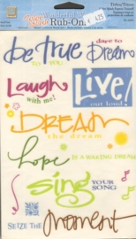 Wonderful Words Rub-Ons Color Splash Express Yourself Deja Views