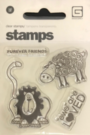 Furever Friends Clear Stamps