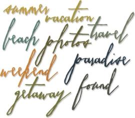 Vacation Thinlits Handwritten by Tim Holtz - Sizzix