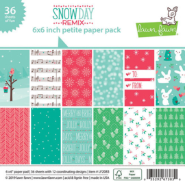 Snowday  Remix Paper Pad 6x6 - Lawn Fawn