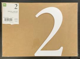 """2 Chipboard Numbers 8"""" - Making Memories"""
