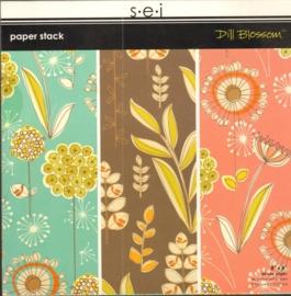 """Dill Blossom Paper Stack 8"""" x 8"""" S.E.I."""