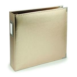 """Classic Faux Leather Gold 12""""x12"""" D-ring Album - We R Memory Keepers"""