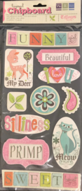 Tiffany's Words Layered Chipboard Stickers