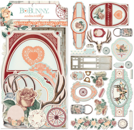 Noteworthy Die-cuts Bella Rosa Collection - Bo Bunny