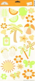 Obviously Orange Icons Cardstock Stickers