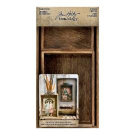 Vignette Set (2 Boxes - 1 Tray) - Tim Holtz Idea-ology