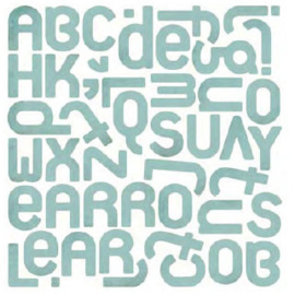 Monogram Stickers - Offbeat Collection Basic Grey