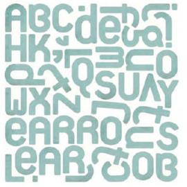 Monogram Stickers - Offbeat Collection Basic Grey