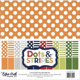 Little Boy Dots & Stripes Kit 12x12 - Echo Park