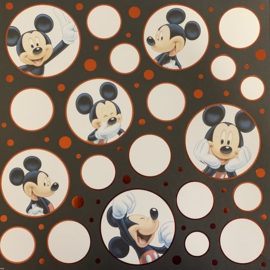 Mickey Poses with foil 12x12 - EK Succes