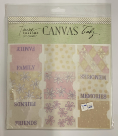 Shabby Chic Canvas Tabs by Teresa Collins - Junkitz