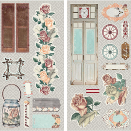 Chipboard Stickers - Bella Rosa Collection Bo Bunny