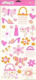 Pretty Pink Icons Cardstock Stickers