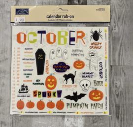 Calendar Rub-ons October - Karen Foster