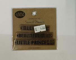 Stencil Phrases Girl - AMM