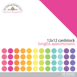 Cardstock Bright Assortment - Doodlebug Design Inc.