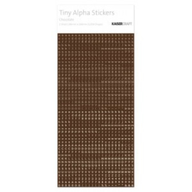 Tiny Alpha Stickers Chocolate