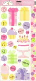 Birthday Girl Cardstock Stickers