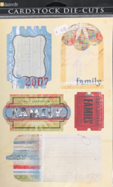 Family Journal Tags Die-cuts
