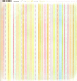 Stripe Delightful Collection - Little Yellow Bicycle