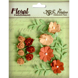 Mini Rose Closers Tan/Brown Petaloo