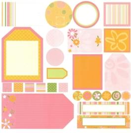 Tags Pink/Orange