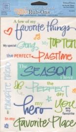Wonderful Words Rub-Ons My Favorite Things Deja Views