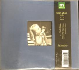"""6"""" x 6"""" Linen Album Window Denim"""