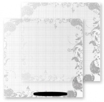 Chipboard Sheets Lovely Grid Invisibles 12x12 - Heidi Swapp